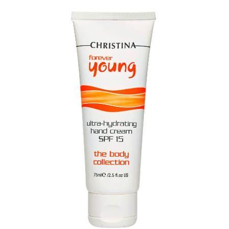Christina Forever Young Ultra-Hydrating Hand Cream SPF15 - Ультраувлажняющий крем для рук 75мл