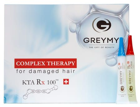 Greymy Ampoules Rx100 KTA + Hydrocollagen - Ампулы Rx100 концентрат кератина + гидроколлаген (восстанавливающая сыворотка) 3 х 20мл + 3 х 20мл