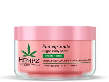 """Hempz Body Scrub Sugar & Pomegranate - Скраб для тела """"Сахар и Гранат"""" 176гр"""