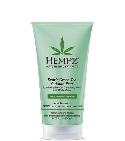 "Hempz Exotic Green Tea & Asian PearExfoliating Cleansing Mud & Mask - Маска-глина ""Отшелушивающая"" 200мл"