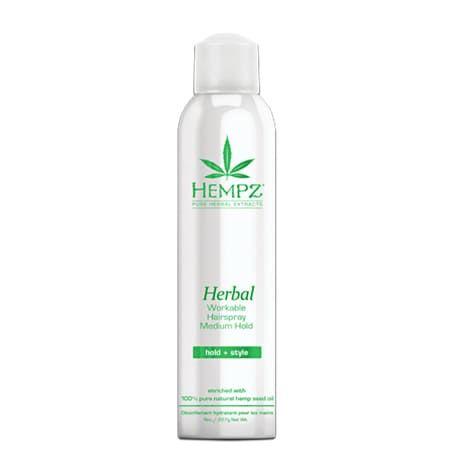 """Hempz Herbal Workable Hairspray Medium Hold - Лак растительный для волос средней фиксации """"Здоровые волосы"""" 227гр"""
