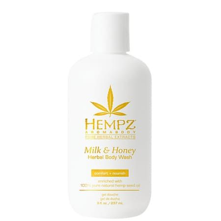 "Hempz Milk & Honey Herbal Body Wash - Гель для душа ""Молоко & Мёд"" 237мл"