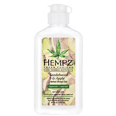 """Hempz Sandalwood & Apple Herbal Shave Gel - Гель для бритья """"Сандал и Яблоко"""" 177гр"""