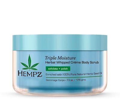 "Hempz Triple Moisture Herbal Body Scrub - Скраб для тела ""Тройное увлажнение"" 176гр"