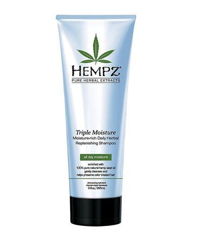 """Hempz Triple Moisture Replenishing Shampoo - Шампунь растительный """"Тройное увлажнение"""" 265мл"""