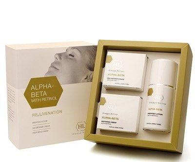 Holy Land Alpha-Beta and Retinol kit - Набор для восстановления текстуры и цвета кожи 125 мл+50 мл+50 мл
