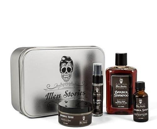 Men Stories Beard Set - Набор подарочный в металлической коробке (4 предмета )