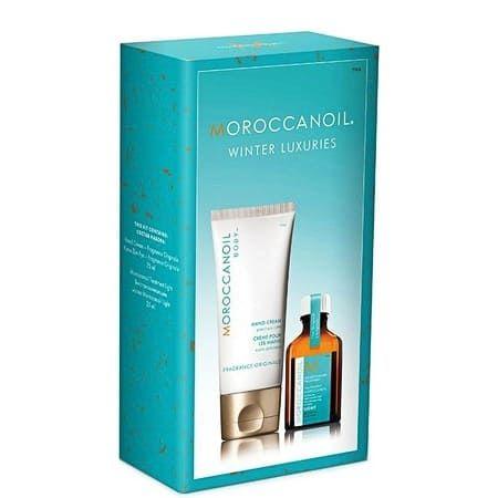 Moroccanoil Winter Luxuries - Праздничный набор ( крем д/рук 75мл + масло д/светлых волос 25мл )