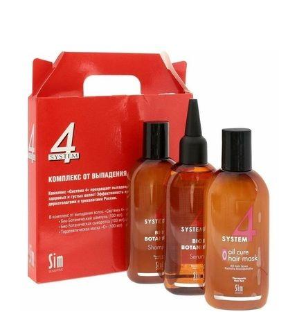 Sim Sensitive System 4 - Комплекс для укрепления волос 100мл + 100мл + 100мл