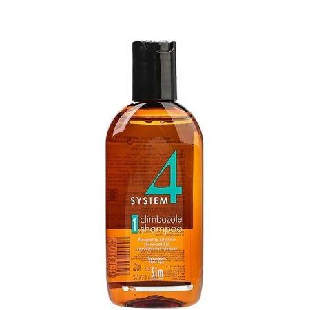 Sim Sensitive System 4 Therapeutic Climbazole Shampoo № 1 - Терапевтический Шампунь для нормальной и жирной кожи головы 100мл