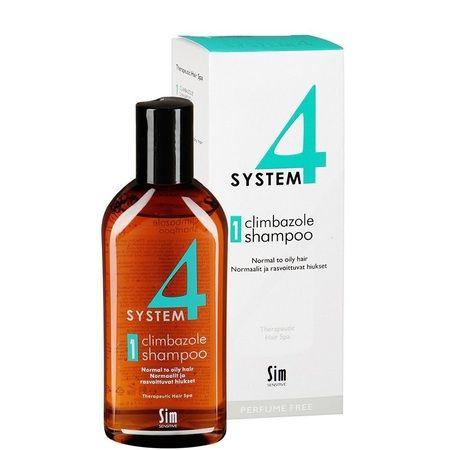 Sim Sensitive System 4 Therapeutic Climbazole Shampoo № 1 - Терапевтический Шампунь для нормальной и жирной кожи головы 215мл